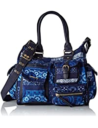 Desigual Damen Bols_london Medium Barbados Umhängetasche, 12 x 25 x 32 cm
