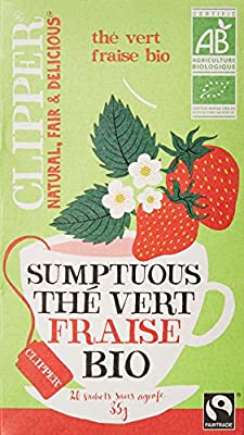 Clipper Thé Vert Fraise Biologique 20 infusettes - Lot de 2