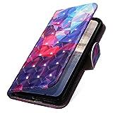 MoreChioce Galaxy S7 Hülle,Galaxy S7 Klapphülle, 3D Glitzer Ledertasche Farbe Gitter Muster Bling Glanz Funkeln Flip Schutzhülle Handytasche Magnetverschluß kompatibel mit Samsung Galaxy S7
