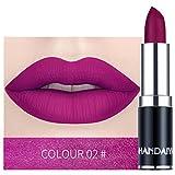 AMUSTER Rouge à lèvres imperméable mat couleur citrouille rouge à lèvres rouge à lèvres Matte Longue durée Lèvres Maquillage (B)