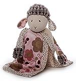 Inware 7967 - Schmusetuch Schaf Sweety mit Schnullerhalter, creme/rosa, Schnuffeltuch, Trösterchen, 26 cm
