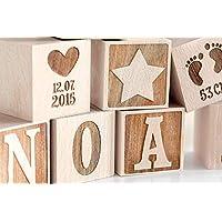 Holzwürfel zur Geburt/Holzwürfel Gravur/Baby/Geschenk zur Geburt/Geschenk zur Taufe/Holzwürfel Baby