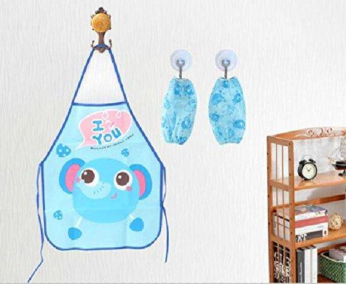 SunnyGod Hausfrau-Schürze Kinderschöne Schürze Cartoon Animal Printing Schürze Set_Blue Elephant