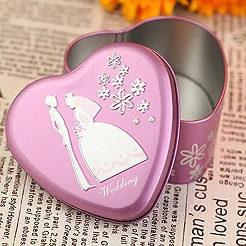 Highdas10 pezzi Laser Cut nozze di amore della cavit¨¤ del cuore bomboniera caramella Contenitori di regali, rosso, viola, blu, arancione, rosa