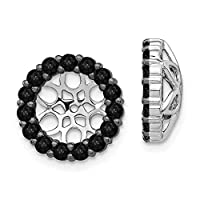 12mm 14ct White Gold Black Diamond Earrings Jackets Jewelry Gifts for Women