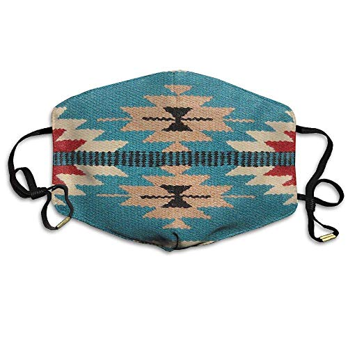 HUSDFS Mouth Masks El Paso Design Native American Unisex Facemask Earloop Dust Protecting Mask Riding Reusable Mask