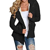 Geili Damen Strickjacke Herbst Winter Warme Gefüttert Kapuzenjacke Wollmantel Frauen Knöpfen Mantel Jacken Pullover... preisvergleich bei billige-tabletten.eu