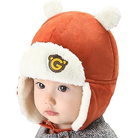 EOZY-Cappello Bambini Aviatore Beanie a Orecchi Orso Bimbo