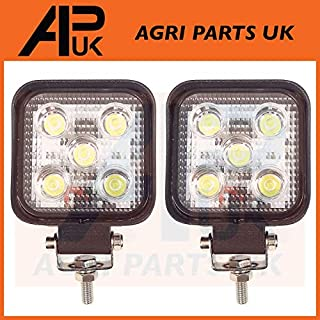 APUK Pair 15W LED work Light Lamp 12V Flood Beam 24V Square Trailer Offroad 4X4 SUV