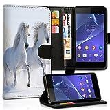 wicostar Wallet Book Style Flip Handy Tasche Case Schutz Hülle Schale Motiv Etui für Wiko Rainbow Jam - Variante UMV33 Design2