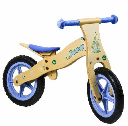HUDORA Robustes Kinder Laufrad Holzlaufrad Fahrrad joey Flitzkidz unisex 12 Zoll