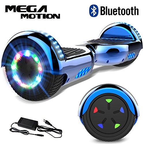 "Mega Motion Self Balance Scooter 6,5\"" -2018 Elektro Scooter E-Skateboard- Scooter - UL zertifizierten 2272 LED - Räder mit LED Licht -Bluetooth Lautsprecher – 700W Motor"