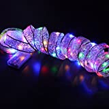 LED Band Fenster Vorhang - Weihnachtsbeleuchtung 40 LED Lichter String Lampe - House Party Decor Auffällig (Multicolor)