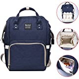 Diaper Bag,Becmd Large Capacity Diaper Bag Backpack,Multi-Function Travel Backpack Nappy Bag,Nurse Bag,Fashion Mummy Bag,Waterproof For Baby Care,Stylish And Durable