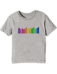 Erido Sound Equalizer Kids Unisex Boys Girls T-Shirt Grey Tee Crew Neck Short Sleeves All Sizes