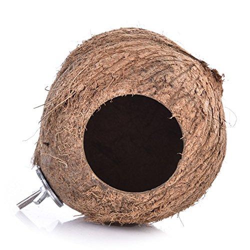Zaote Vogel Nest Käfig Spielzeug Natürliche Coonut Shell Vogel Nest Vogel Leiter Spielzeug für Papagei Budgie Sittich Nymphensittich Conure Kanarischen Fink Tauben Käfig Hamster (Taube-nistkästen)