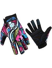Guantes GZDL para hombres, para bicicleta MTB de montaña, equitación; manchas multicolores para el aire, dedos completos, hombre, color multicolor, tamaño L
