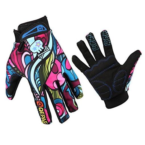 GZDL Men MTB Riding Mountain Bike Cycling Dirt Biking Glove Multicolor Outdoor Bicycle Full Finger Gloves