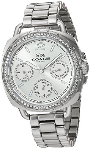 Silver Dial Women's Analog Business Quartz Coach Watch Tatum 14502569