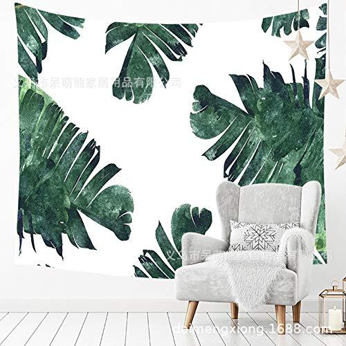 xkjymx Moda Verde Planta Tapiz Bosque Bohemio Colgar Tela impresión Pared Colgante...