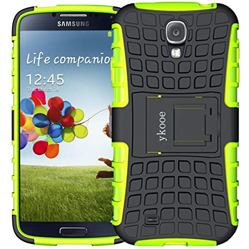 ykooe Galaxy S4 Hülle, (TPU Series) Samsung S4 Dual Layer Hybrid Handyhülle Drop Resistance Handys Schutz Hülle für Samsung Galaxy S4 (Nicht mit S4 Mini zu verwenden) Grün
