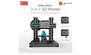 DOBOT MOOZ - Industrial Grade Transformable Metallic 3D Printer, Free PLA Filament, 130130130mm, Support CNC and Laser Engraving with Protective Case and Goggle, Auto-Calibration, Assemble Easily