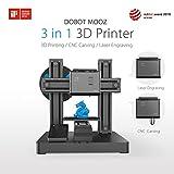 DOBOT MOOZ - 3D Drucker, Laser Engraver & CNC Fräse – Gänzlich aus Metall – Inklusive gratis PLA Filament, Laser-Schutzhaube & Schutzbrille – Einfach zusammenzubauen