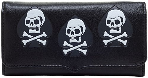 Sourpuss TRIUMPH WALLET SKULLS Totenkopf / GELDBEUTEL Rockabilly
