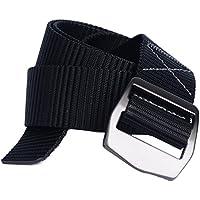 Yacn Cintura rete mesh di nylon del 'ampia Men1.57' uomini alti tattici militari Silveryk Buckle (nero) - Web Cinghia Della Pistola