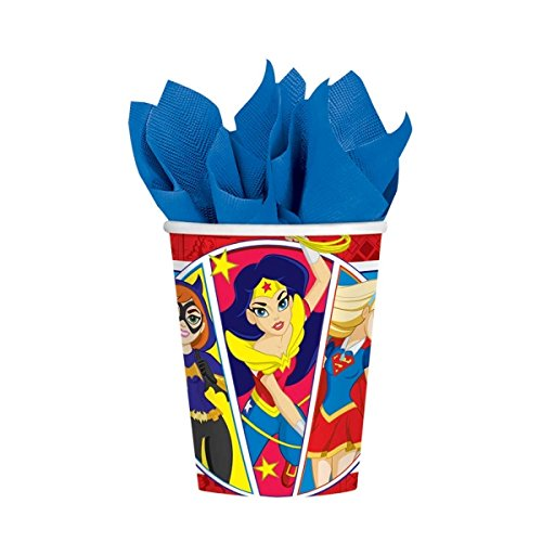 Party Paper Cups - by DC Superhero Girls (Mädchen Superhero Party Supplies)