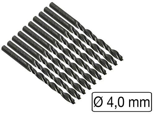 10 Stück HSS-Bohrer Metall Durchmesser 4,0 mm