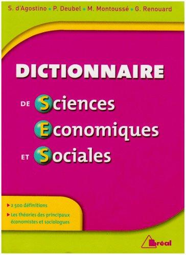 Dictionnaire de sciences économiques et...