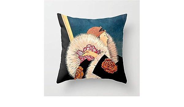 Pingrog George Wolfe Plank Art Deco Casual Chic Magazine Couverture # 9 Housse De Coussin 18X18 Mode Simplicit/é Confortablement Chic Usage Quotidien Color : Colour, Size : Size
