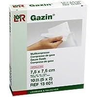 GAZIN Mullkomp.7,5x7,5 cm steril 8fach 10 St Kompressen preisvergleich bei billige-tabletten.eu
