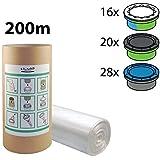 Recarga compatible Sangenic Tommee Tippee y Angelcare para pañales - equivalente 16 cajitas Sangenic + rollo de cartón para rellenar fácil