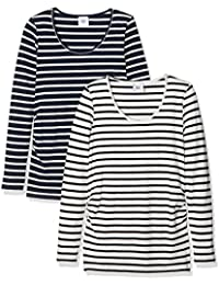 Mamalicious Women's Maternity Long Sleeve T-Shirt pack of 2