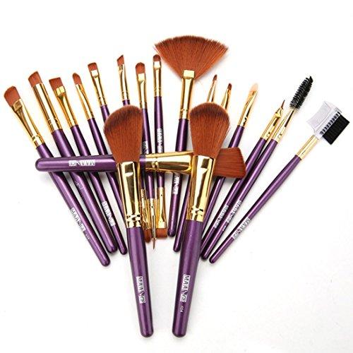 Zeagoo 19PCS Pinceaux Professionnel De Maquillage À Paupières Eyeliner Lèvre