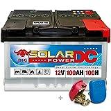 BIG Solar DC 12 V / 100 Ah (100h) Boot Caravan Solar Reha Batterie inkl. Easy Click