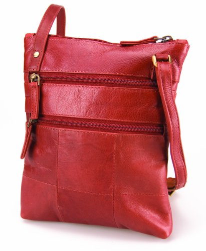 Visconti Petit sac à bandoulière en cuir véritable # 18606