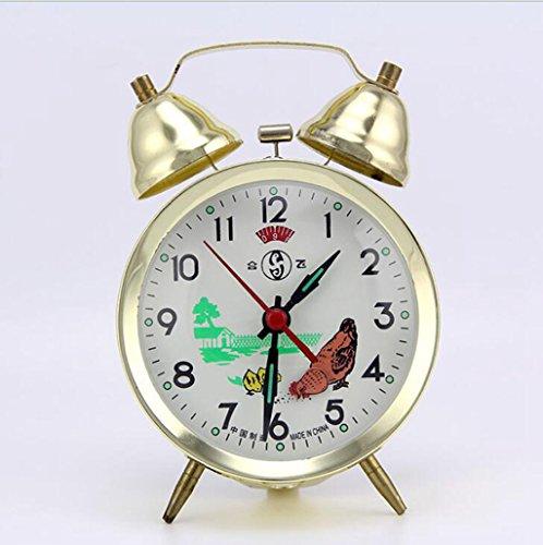Longless Maquinaria sinuoso campana reloj despertador moda estudio metal 9*4*15CM