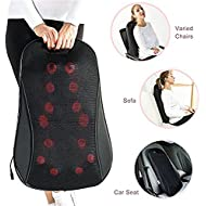 IBUYTOP Shiatsu Back/Neck Massager ,Electric Massagers,Back Massager Shiatsu Kneading Massager Cushion with Heat for Lower, Upper Back and Waist ,Relax and Relieve Shoulder and Back Pain(Black)