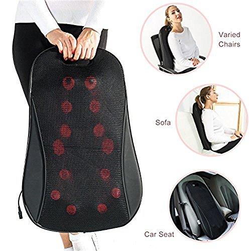 IBUYTOP Ektrische Massagegeräte, Rückenmassagegerät Shiatsu Knetmassagekissen mit Wärme für den unteren, oberen Rücken und die Taille, entspannen und entlasten Schulter- und Rückenschmerzen