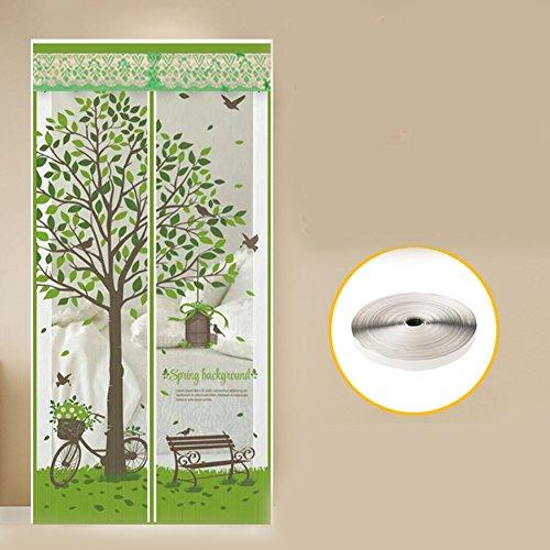 Dw&hx zanzariera magnetica per porte,heavy duty rete di armatura & full frame velcro anti insetti mosche zanzare cucciolo amichevole zanzariera magnetica per porte -a 140x220cm(55x87inch)