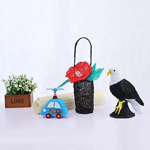 3D Stifte für Kinder mit LCD Display, 3D Druckstift, 3D Stift Set mit 1,75 mm PLA Filament für Kinder, Erwachsene, Kritzelei, Zeichnung und Kunst & handgefertigte Werke - 9