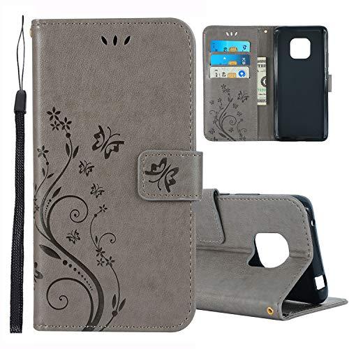 Preisvergleich Produktbild Huawei Mate 20 Pro Hülle, Roreikes Premium PU Schmetterling Blumen Schutzhülle