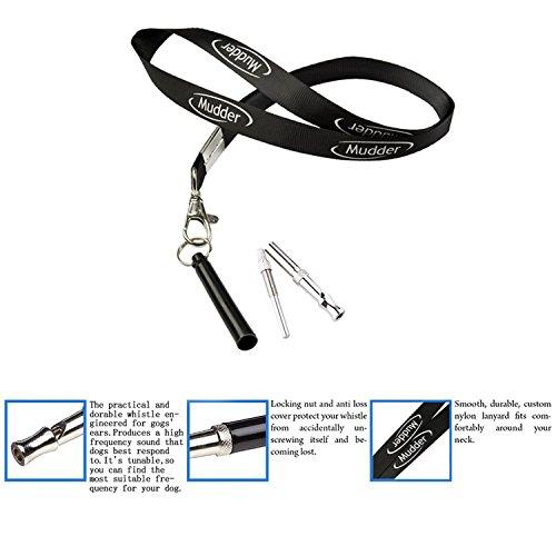 Mudder Training Hundepfeife mit Pfeifenband (Schwarz) - 2