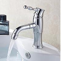 SBWYLT-Miscelatore lavabo lusso tutto rame, multistrato placcatura, moda ringrosso lavabo con rubinetto miscelatore rotante di 360 gradi Saldi