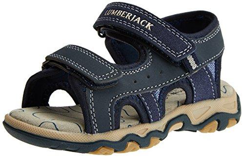 Lumberjack levi 011r61, sandali punta aperta bambino, blu (navy blue), 31 eu