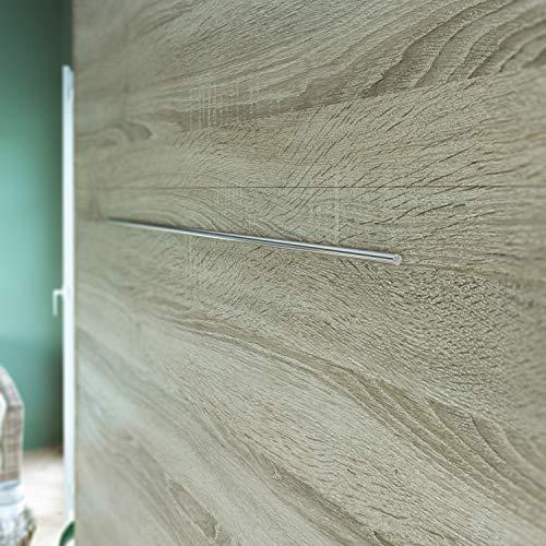 Schrankbett 160 x200 Vertikal Eiche Sonoma mit Gasdruckfedern, ideal als Gästebett – Wandbett, Schrank mit integriertem Klappbett, Schrankklappbett & Wandbett, SMARTBett - 5