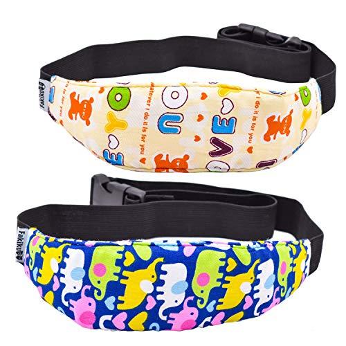 Fakiku cinturino supporto testa per bambini e neonati,reggitesta per seggiolino auto,supporto testa passegino bici e ovetto,regolabile in cotone elasticizzato,2 pezzi